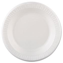 Dart Quiet Classic Laminated Foam Dinnerware, Plate, 10 1/4 in, White, 125/Pk, 4 Pks/Cs