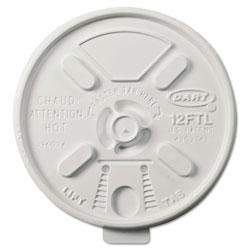 Dart Vented Foam Lids for 10-14 oz Foam Cups, Lift n' Lock Lid
