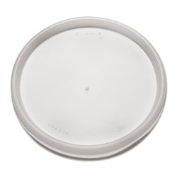 Dart Plastic Lids for Foam Cups, Bowls and Containers, Flat, Vented, Fits 6-32 oz, Translucent, 1,000/Carton