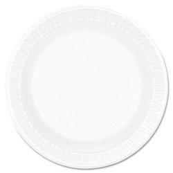Dart Concorde Foam Plate, 6 in dia, White, 1000/Carton