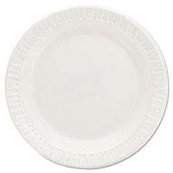 Dart Quiet Classic Laminated Foam Dinnerware Plates, 6 Inches, White, Round, 125/Pack
