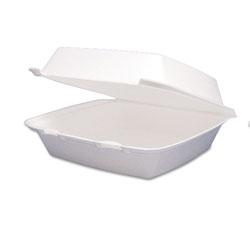 Dart Carryout Food Container, Foam Hinged 1-Comp, 9 1/2 x 9 1/4 x 3, 200/Carton