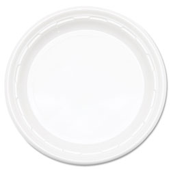 Dart Famous Service Plastic Impact Dinnerware, Plate, 9 in, White, 125/Pack