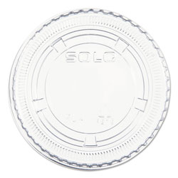 Solo Non-Vented Cup Lids, Fits 3.25-9 oz Cups, Clear, 125/Sleeve, 20 Sleeves/Carton