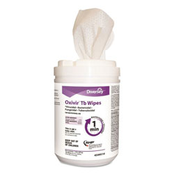 Diversey Oxivir TB Disinfectant Wipes, 6 x 7, White, 160/Canister, 12 Canisters/Carton