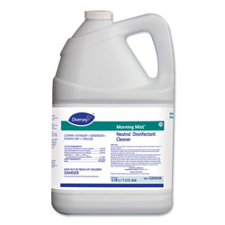 Diversey Morning Mist Neutral Disinfectant Cleaner, Fresh Scent, 1gal Bottle