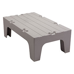 Cambro Dunnage Rack with Solid Shelves Top 36 in Speckled Gray