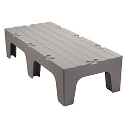 Cambro Dunnage Rack with Solid Shelves Top 48 in Speckled Gray