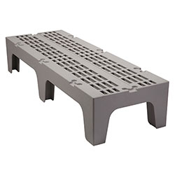Cambro Dunnage Rack with Slotted Top 60 in Speckled Gray