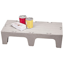 Cambro Dunnage Rack with Solid Shelves Top 60 in Speckled Gray