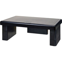 Data Accessories Corp USB Monitor Stand, 10-1/2 in x 4-3/4 in x 13 in, Black