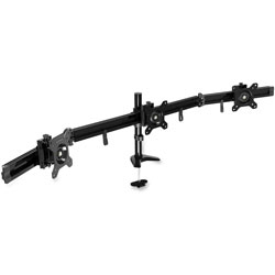 Data Accessories Corp Triple Monitor Arm, 9-3/4 in x 4-1/2 in x 28-1/2 in, Black