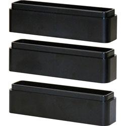 Data Accessories Corp Monitor Riser Blocks, f/MP-107, Adj, 5-1/2 inx1 inx1 in, 3/EA, Black