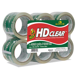 Henkel Consumer Adhesives Heavy-Duty Carton Packaging Tape, 3 in Core, 3 in x 54.6 yds, Clear, 6/Pack