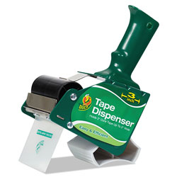 Duck® Extra-Wide Packaging Tape Dispenser, 3 in Core, Green