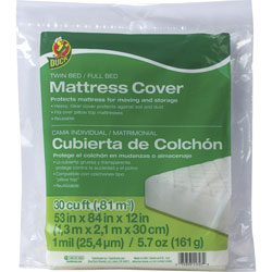 Henkel Consumer Adhesives Mattress Cover, Twin/Full, 53 inWx84 inLx12 inH, Clear