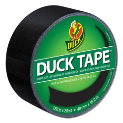 Duck® Colored Duct Tape, 3 in Core, 1.88 in x 20 yds, Black