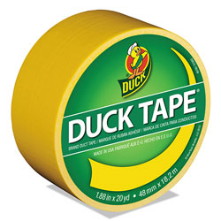 Duck® Colored Duct Tape, 3 in Core, 1.88 in x 20 yds, Yellow