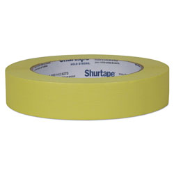 Shurtape Color Masking Tape, 3 in Core, 0.94 in x 60 yds, Yellow