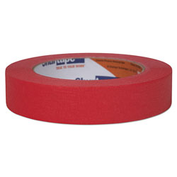 Shurtape Color Masking Tape, 3 in Core, 0.94 in x 60 yds, Red