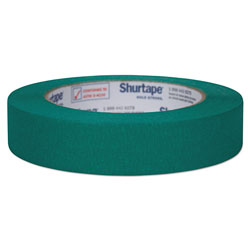 Shurtape Color Masking Tape, 3 in Core, 0.94 in x 60 yds, Green