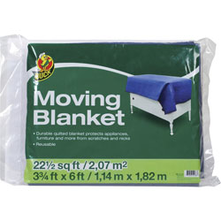 Henkel Consumer Adhesives Moving Blanket, Quilted, 45 inWx72 inL, Blue