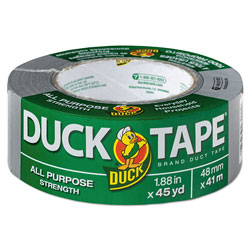 Duck® Duct Tape, 3 in Core, 1.88 in x 45 yds, Gray