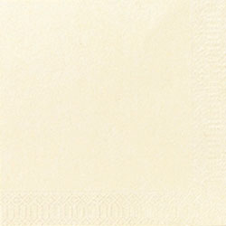 Duni 10 in x 10 in 2-Ply Beverage Napkins, Cream