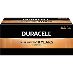 Duracell Coppertop AA Batteries, 24/PK, Black