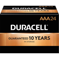 Duracell Coppettop AAA Batteries, 24/PK, Black