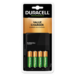 Duracell ION SPEED 1000 Advanced Charger, Includes 4 AA NiMH Batteries