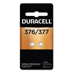 Duracell Button Cell Battery, 376/377, 1.5 V, 2/Pack