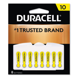 Duracell Hearing Aid Battery, #10, 8/Pack