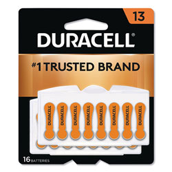 Duracell Hearing Aid Battery, #13, 16/Pack