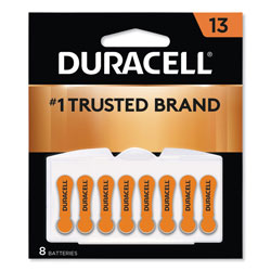Duracell Hearing Aid Battery, #13, 8/Pack
