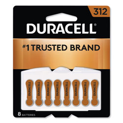 Duracell Hearing Aid Battery, #312, 8/Pack
