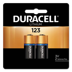 Duracell Specialty High-Power Lithium Battery, 123, 3V, 2/Pack
