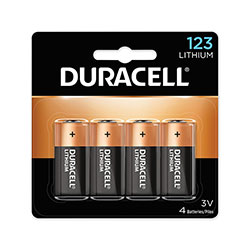 Duracell Specialty High-Power Lithium Batteries, 123, 3 V, 4/Pack