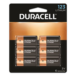 Duracell Specialty High-Power Lithium Batteries, 123, 3 V, 6/Pack