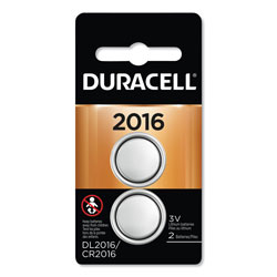 Duracell Lithium Coin Battery, 2016, 2/Pack