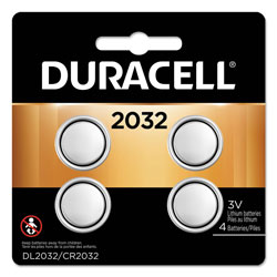 Duracell Lithium Coin Battery, 2032, 4/Pack