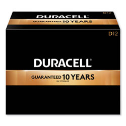 Duracell CopperTop Alkaline D Batteries, 12/Box