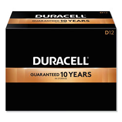 Duracell CopperTop Alkaline D Batteries, 72/Carton