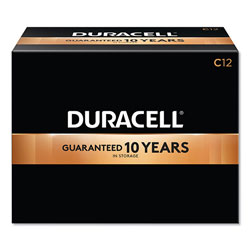 Duracell CopperTop Alkaline C Batteries, 12/Box