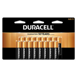 Duracell CopperTop Alkaline AA Batteries, 16/Pack