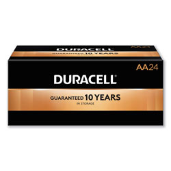 Duracell CopperTop Alkaline AA Batteries, 24/Box