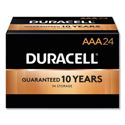 Duracell CopperTop Alkaline AAA Batteries, 24/Box
