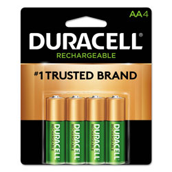 Duracell Rechargeable StayCharged NiMH Batteries, AA, 4/Pack
