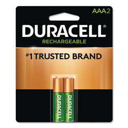 Duracell Rechargeable StayCharged NiMH Batteries, AAA, 2/Pack
