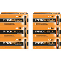 Duracell Procell Alkaline Batteries, AA, 144/CT